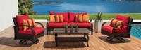 Barcelo™ 4 Piece Motion Club & Sofa Set - Tikka Orange