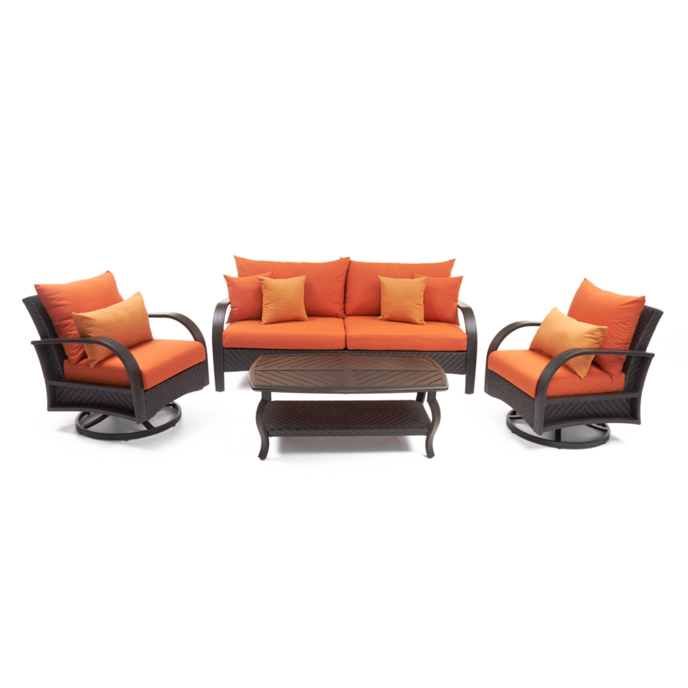 Barcelo™ 4pc Motion Club & Sofa Set - Tikka Orange