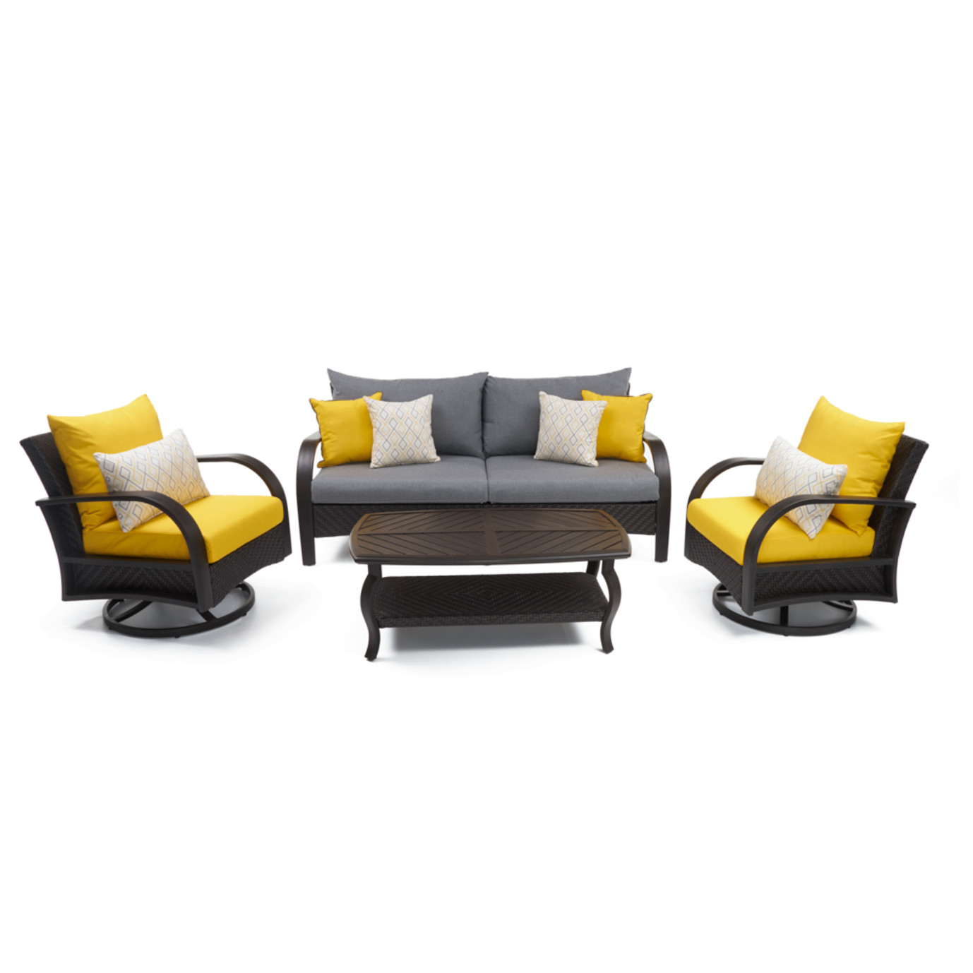 Barcelo™ 4pc Motion Club & Sofa Set - Sunflower Yellow