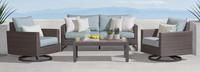 Milea™ 4 Piece Motion Seating Set - Mist Blue