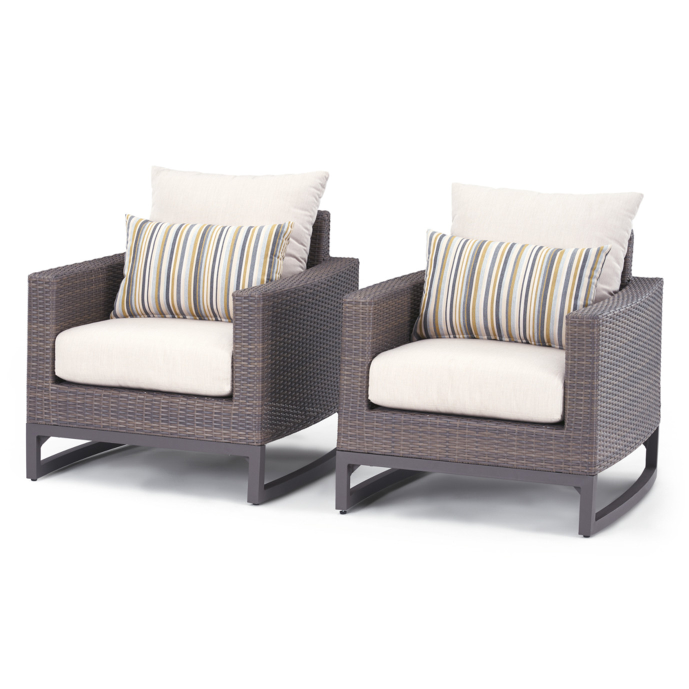Milea 4 Piece Motion Seating Set - Natural Beige