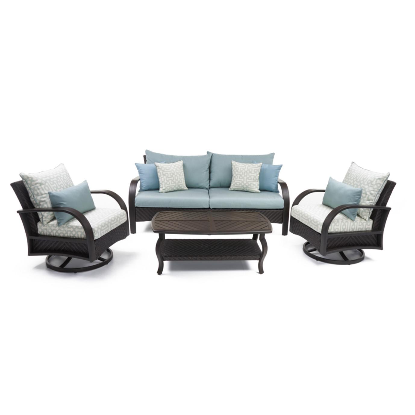 Barcelo™ 4pc Deluxe Motion Club & Sofa Set - Spa Blue Design