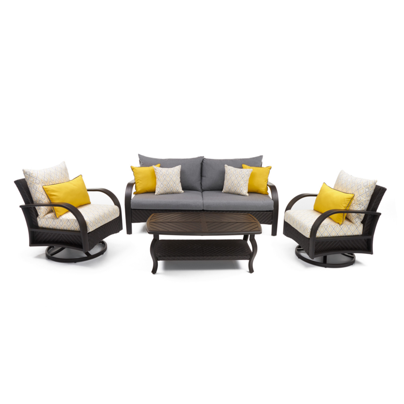 Barcelo™ Deluxe 4pc Motion Club & Sofa Set - Sunflower Yellow