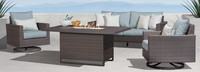 Milea™ 4 Piece Motion Fire Seating Set - Mist Blue
