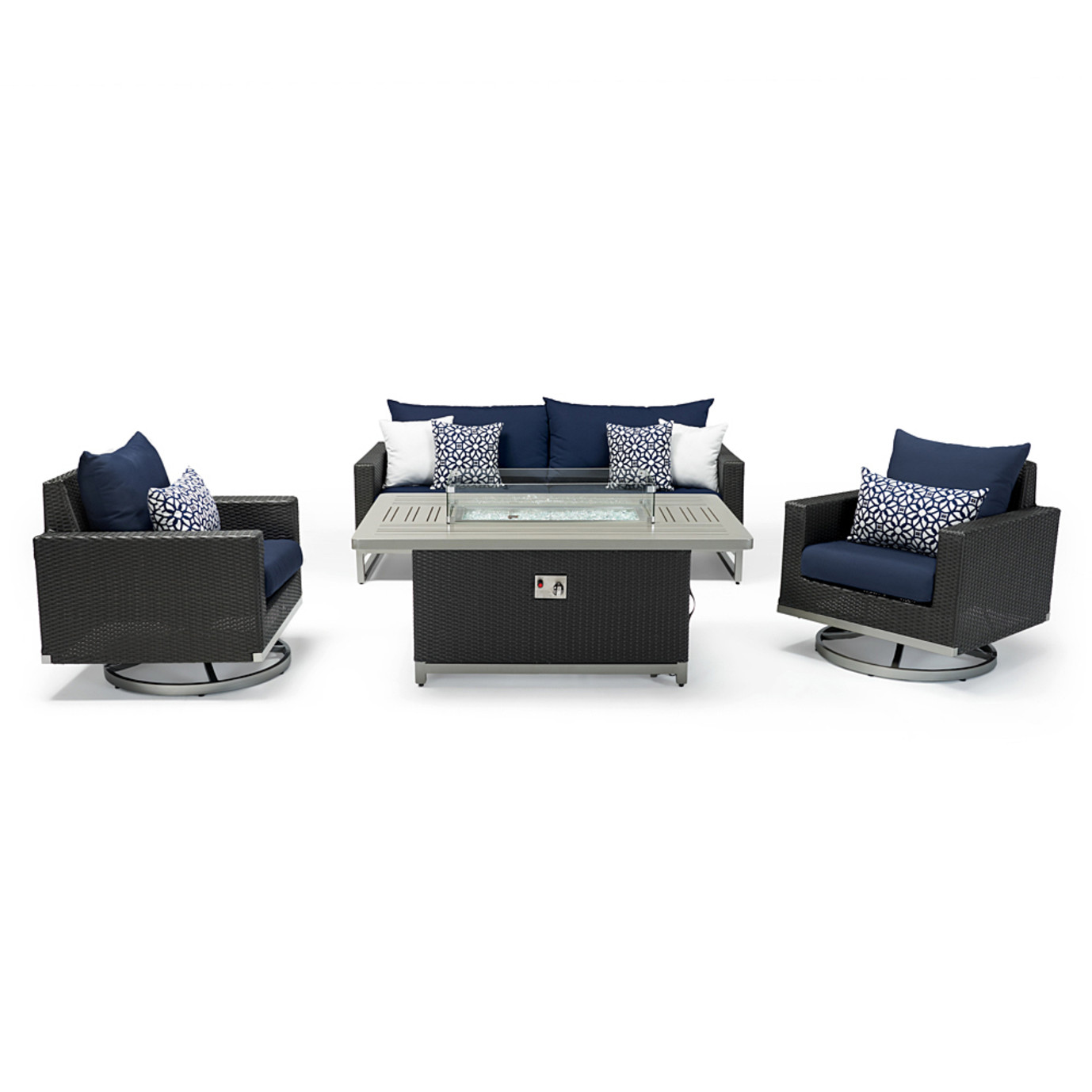 Milo™ Espresso 4pc Motion Fire Set - Navy Blue