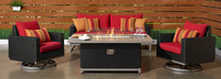 Milo™ Espresso 4 Piece Motion Fire Set - Sunset Red