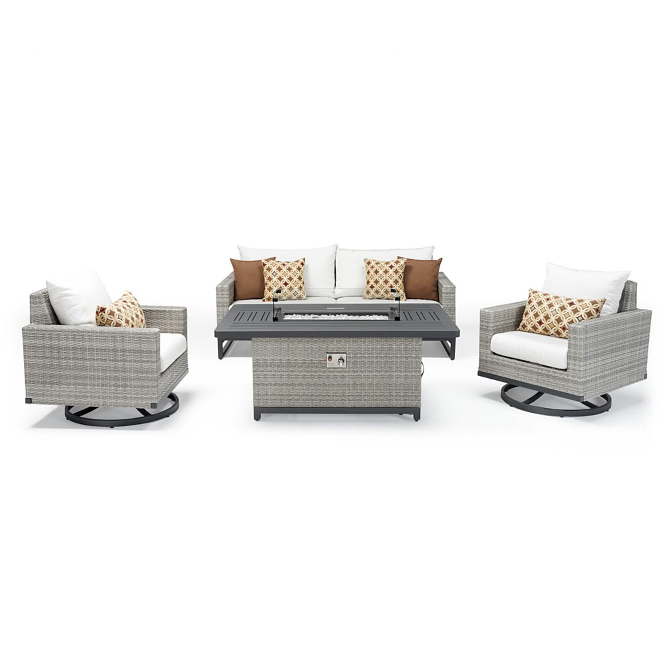 Milo™ Gray 4 Piece Motion Fire Set - Moroccan Cream