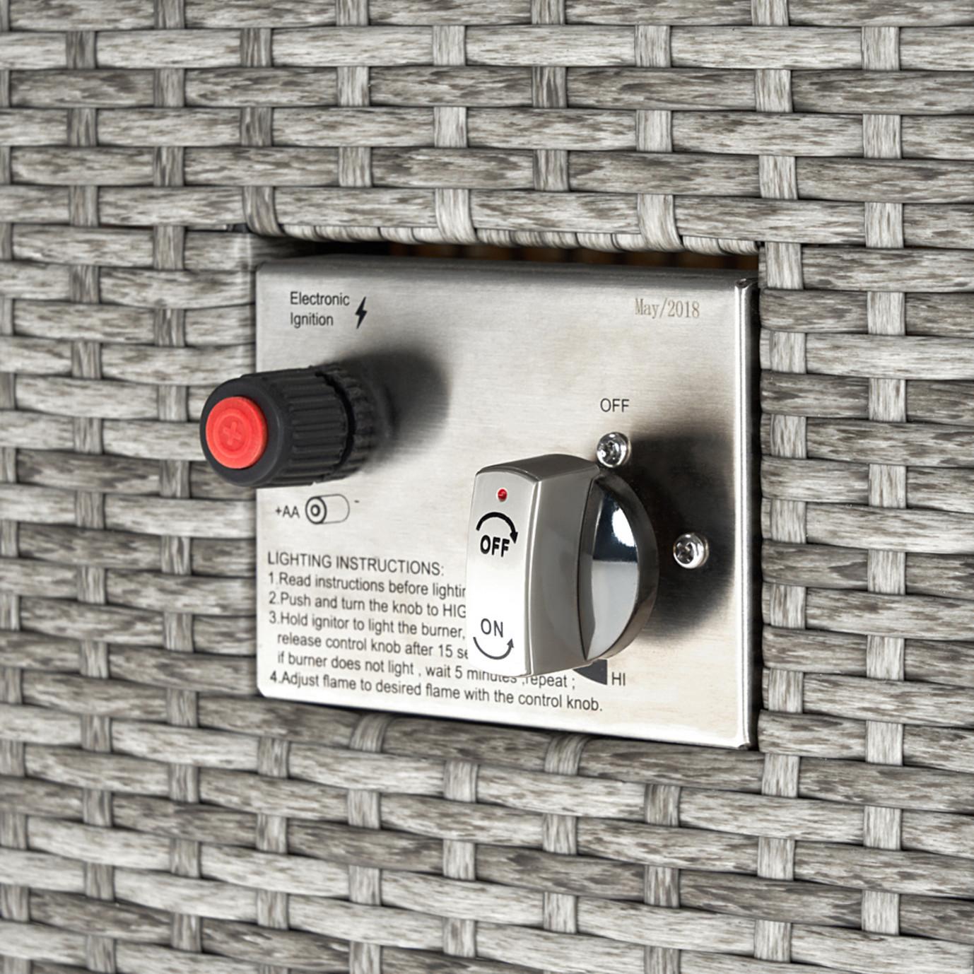 Milo™ Gray 4pc Motion Fire Set - Moroccan Cream