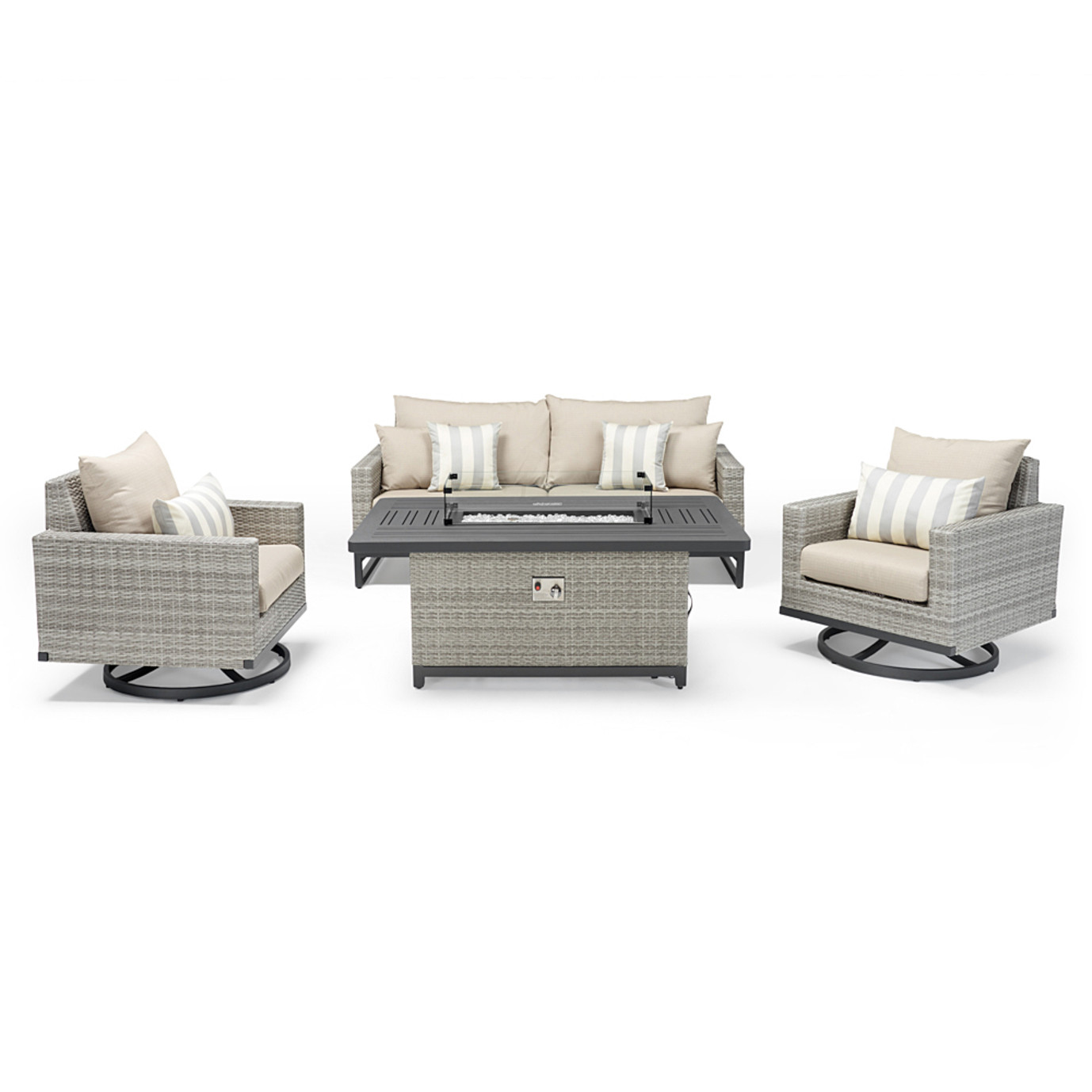Milo™ Gray 4pc Motion Fire Set - Slate Gray