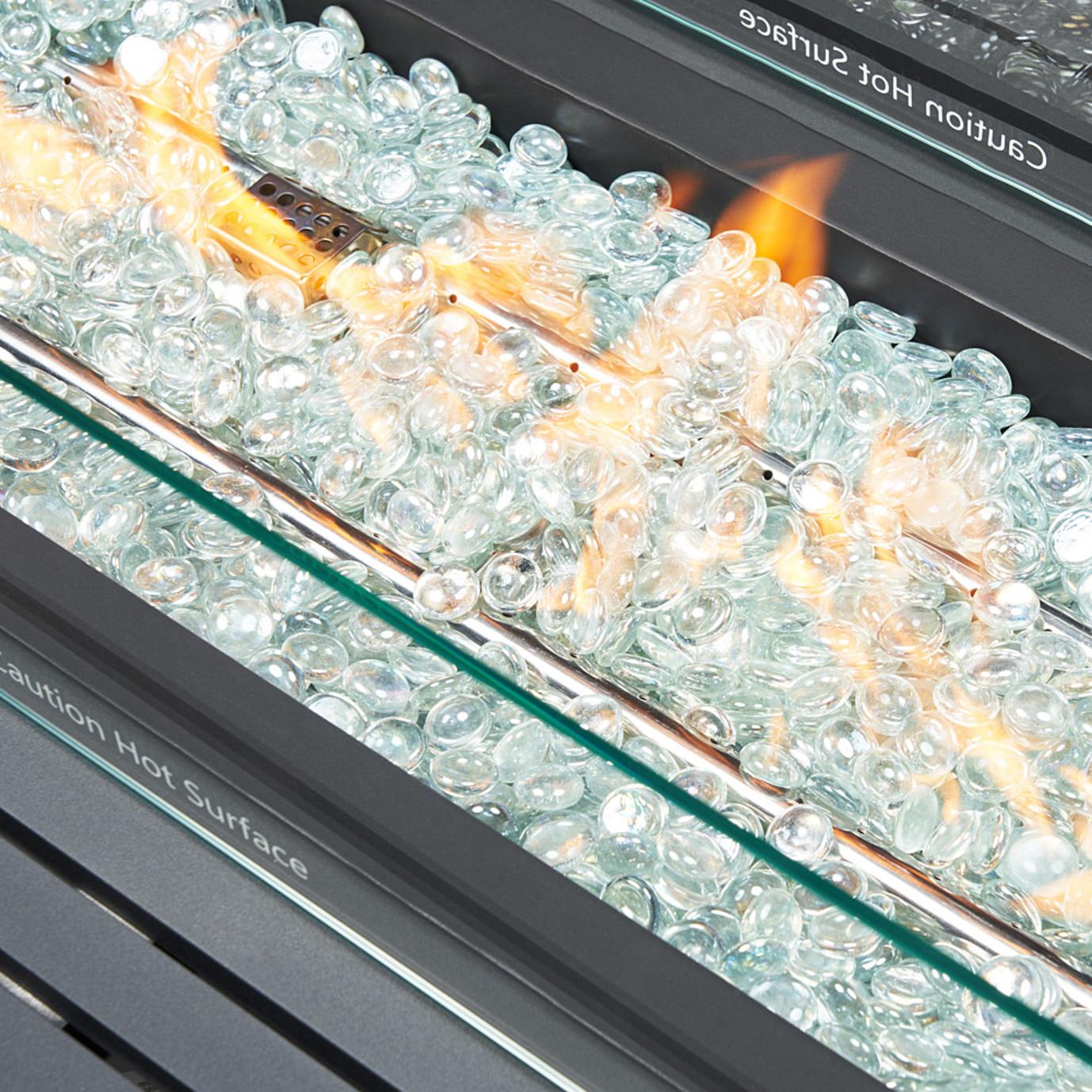 Milo™ Gray 4pc Motion Fire Set - Sunset Red