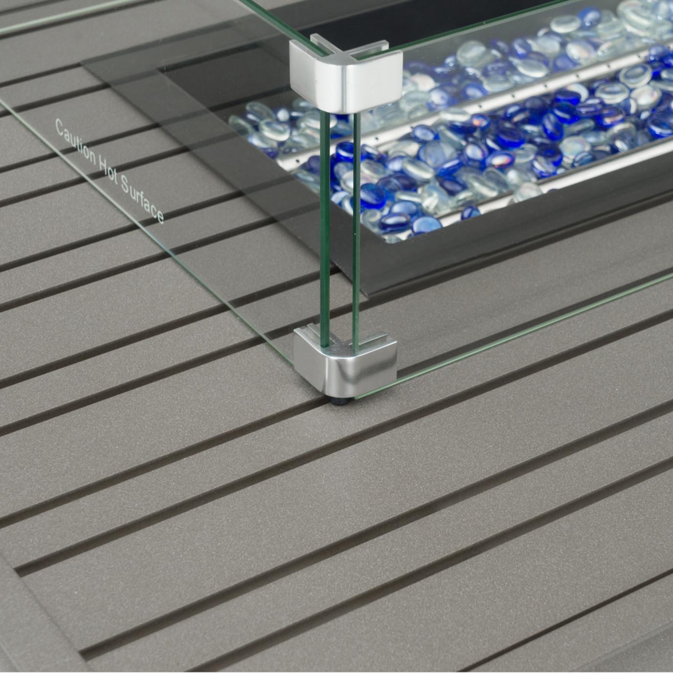 Portofino® Casual 4pc Motion Fire Seating Set - Spa Blue