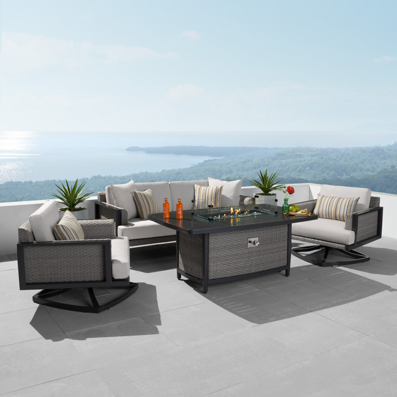 Vistano® 4 Piece Fire Conversation Seating Set
