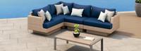 Portofino® Repose 5 Piece Sectional Set - Laguna Blue