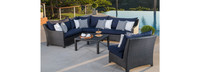Deco™ 6 Piece Sectional and Table - Bliss Blue
