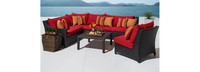 Deco™ 6 Piece Sectional and Table - Charcoal Gray