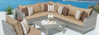 Cannes™ 6 Piece Sectional & Table - Bliss Ink