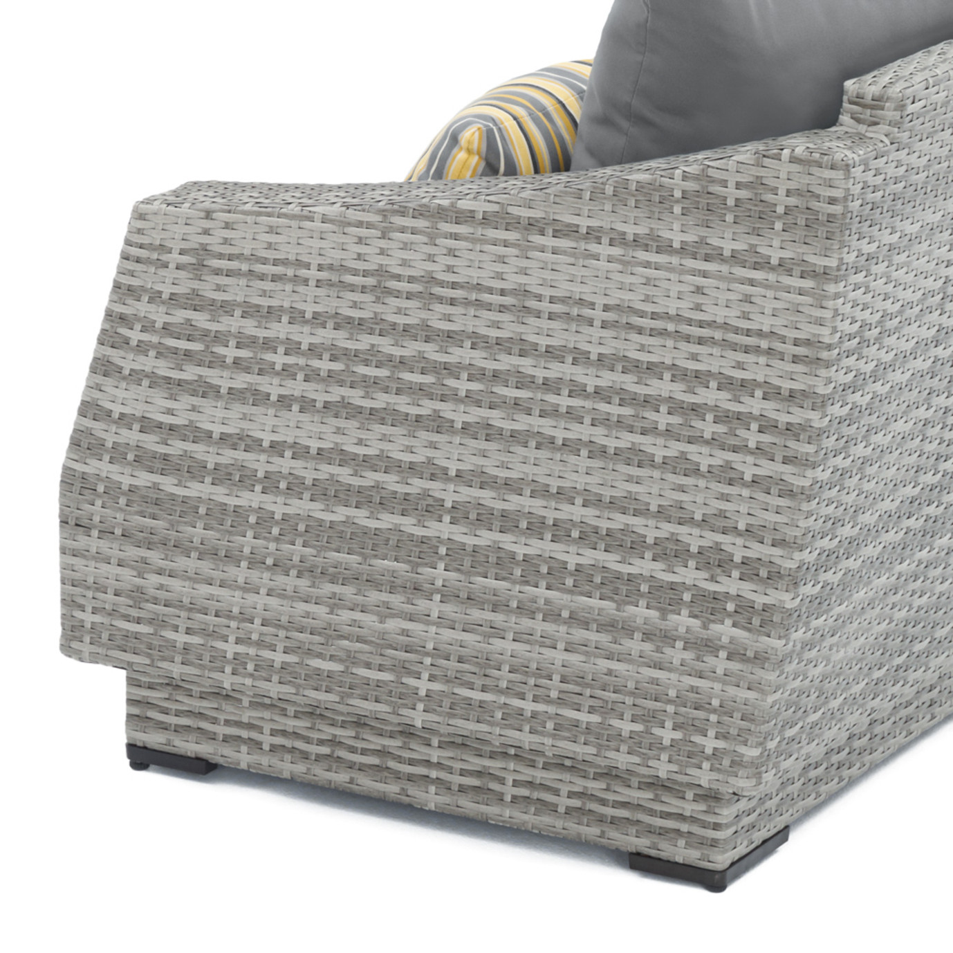 Cannes™ 6pc Sectional & Table - Charcoal Gray