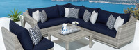 Cannes™ 6 Piece Sectional & Table - Centered Ink