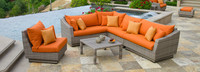 Cannes™ 6 Piece Sectional & Table - Cast Coral