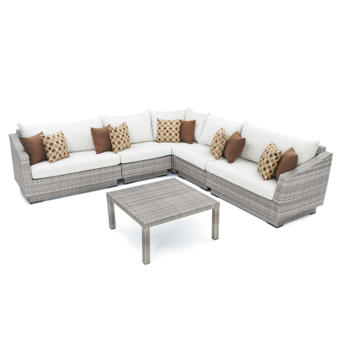 Cannes™ 6pc Sectional & Table - Moroccan Cream