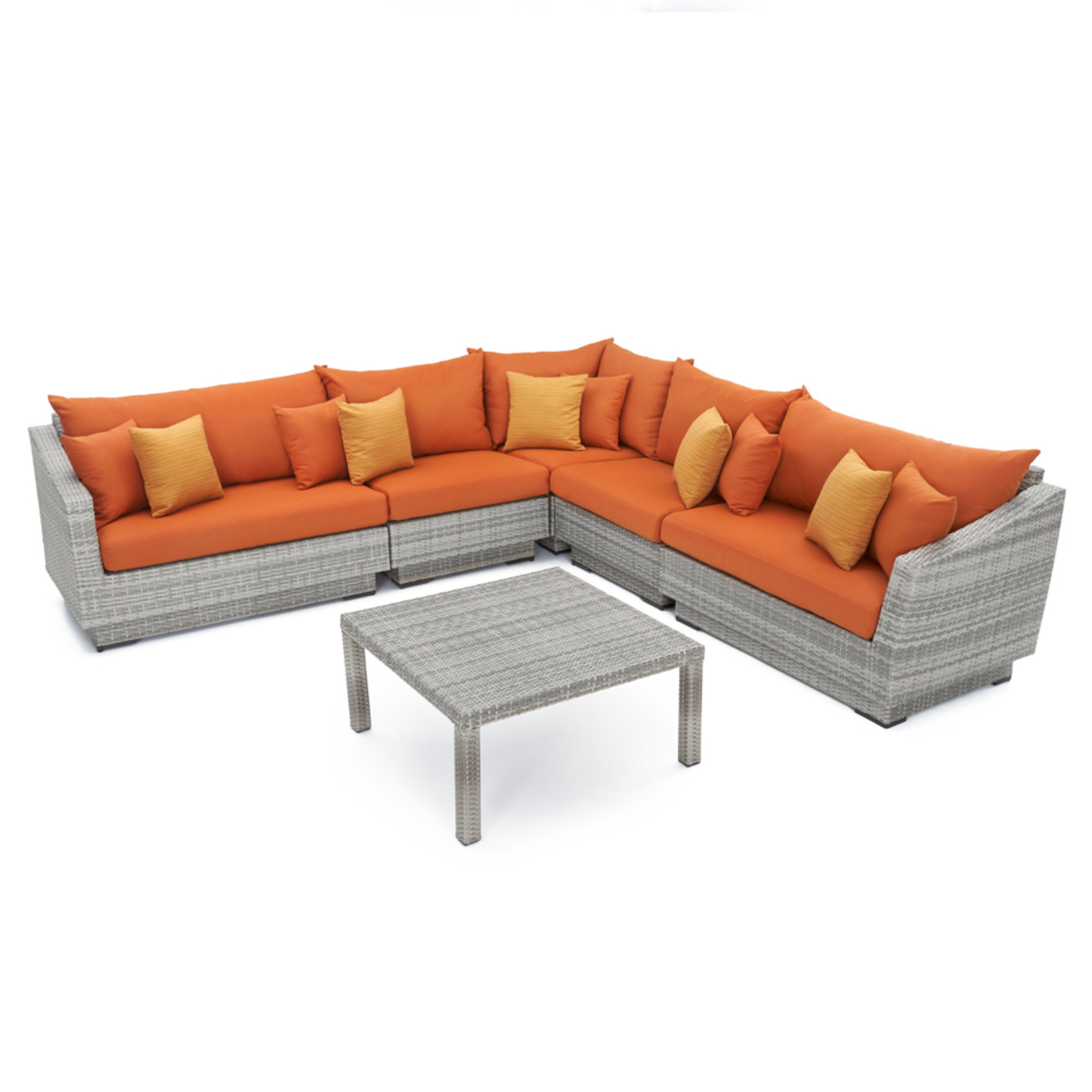 Cannes™ 6pc Sectional & Table - Tikka Orange