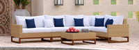 Mili™ 6 Piece Sofa Sectional - Bliss Ink