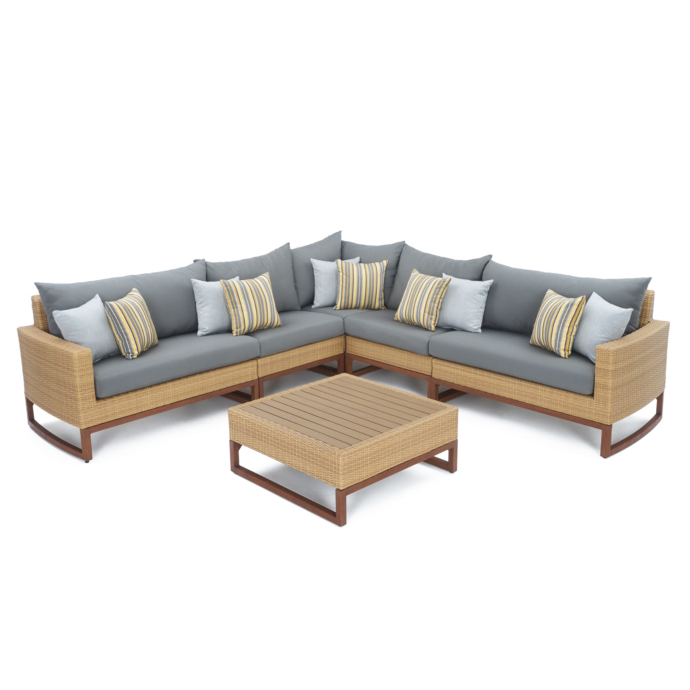 Mili™ 6 Piece Sofa Sectional - Charcoal Gray