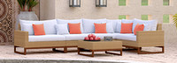 Mili™ 6 Piece Sofa Sectional - Cast Coral