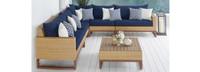 Mili™ 6 Piece Sofa Sectional - Navy Blue