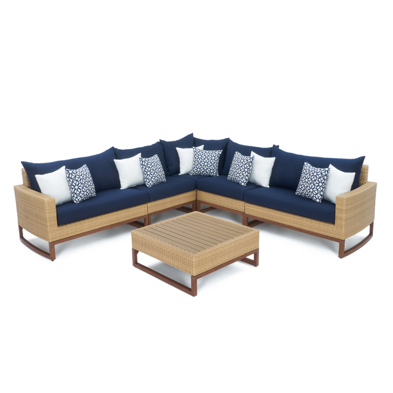 Mili™ 6pc Sofa Sectional - Navy Blue
