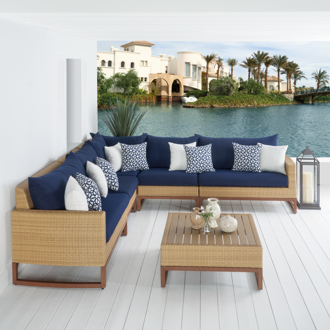 Milea™ 6pc Sofa Sectional - Navy Blue