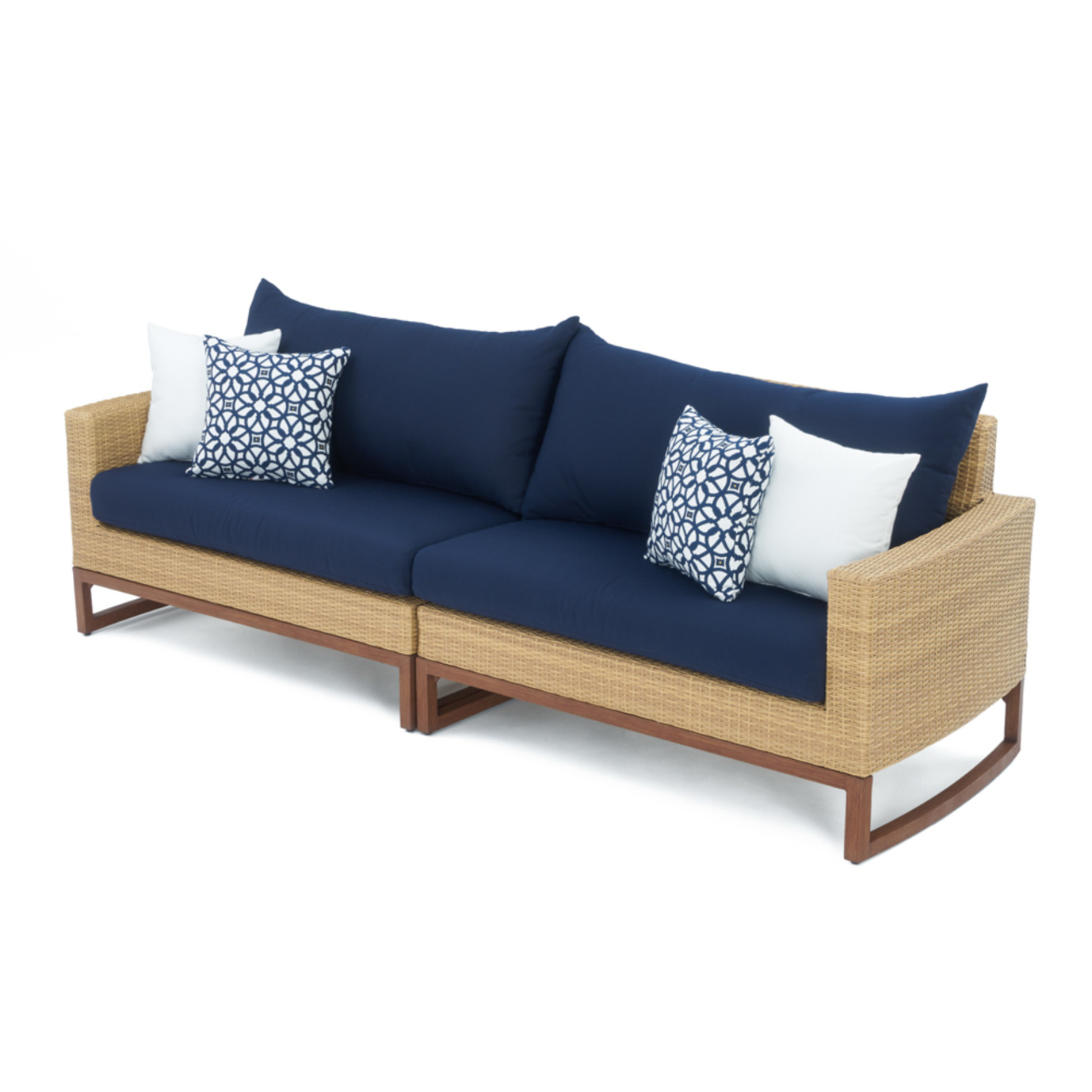 mileatm 6pc sofa sectional navy blue rst brands With 6pc sectional sofa