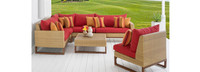 Mili™ 6 Piece Sofa Sectional - Spa Blue
