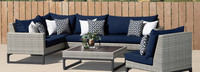Milo™ Gray 6 Piece Sectional - Charcoal Gray