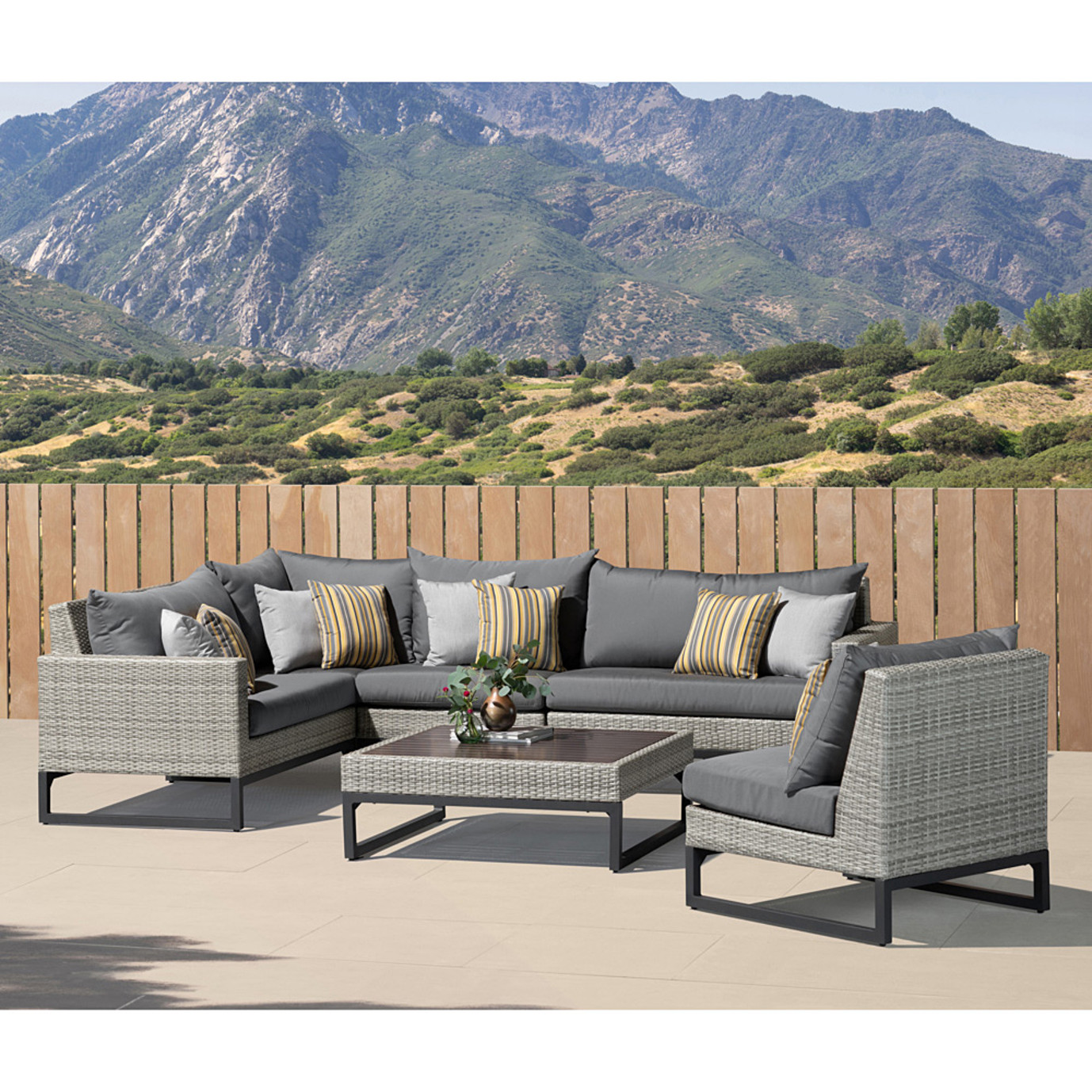 Milo Gray 6 Piece Sectional - Charcoal Gray