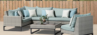 Milo™ Gray 6 Piece Sectional - Navy Blue