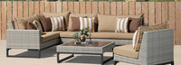 Milo™ Gray 6 Piece Sectional - Sunset Red