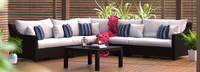 Deco™ 6 Piece Sectional and Table - Navy Blue
