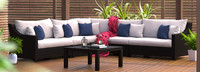 Deco™ 6 Piece Sectional and Table - Sunset Red