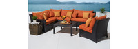 Deco™ 6 Piece Sectional and Table - Tikka Orange
