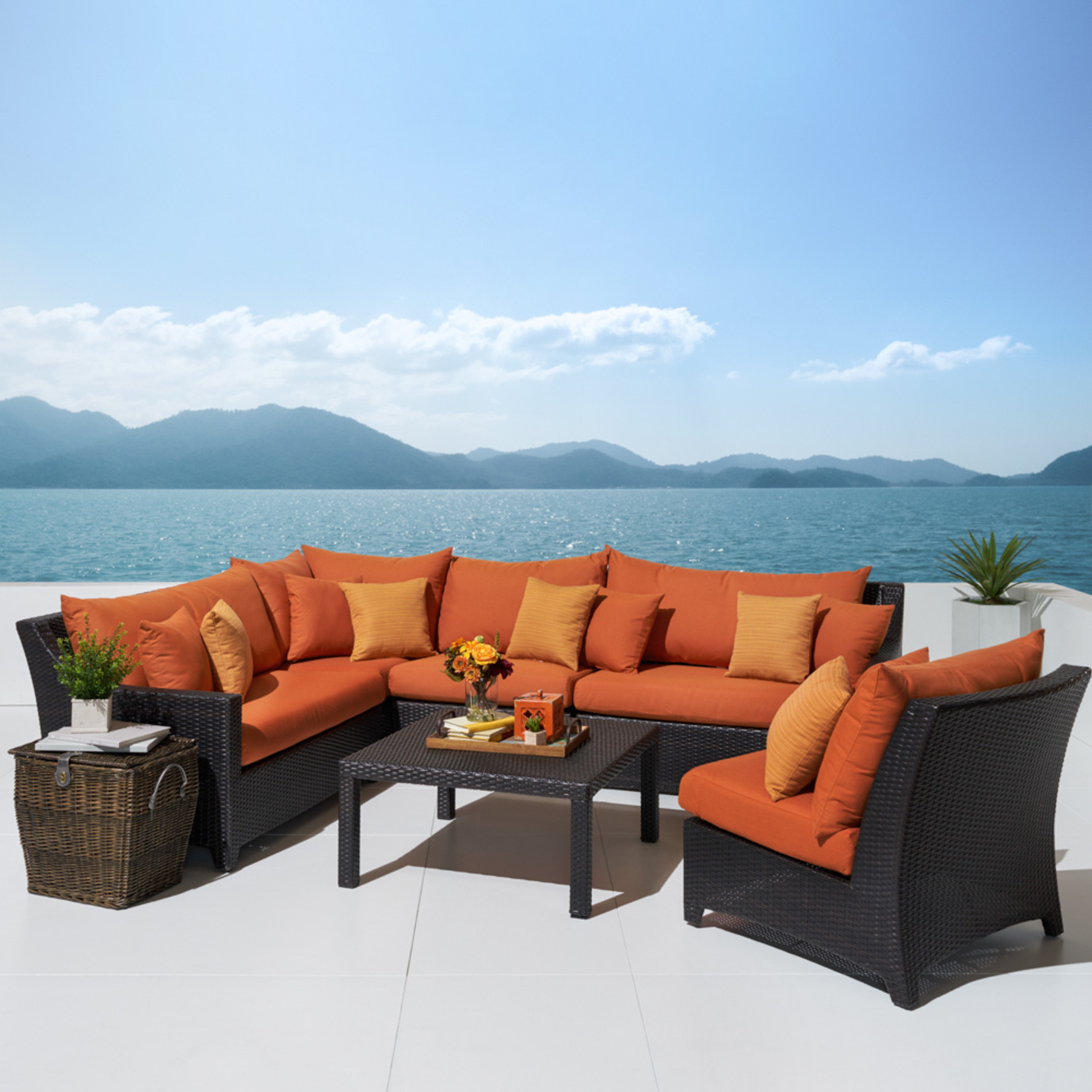 Deco™ 6pc Sectional and Table - Tikka Orange
