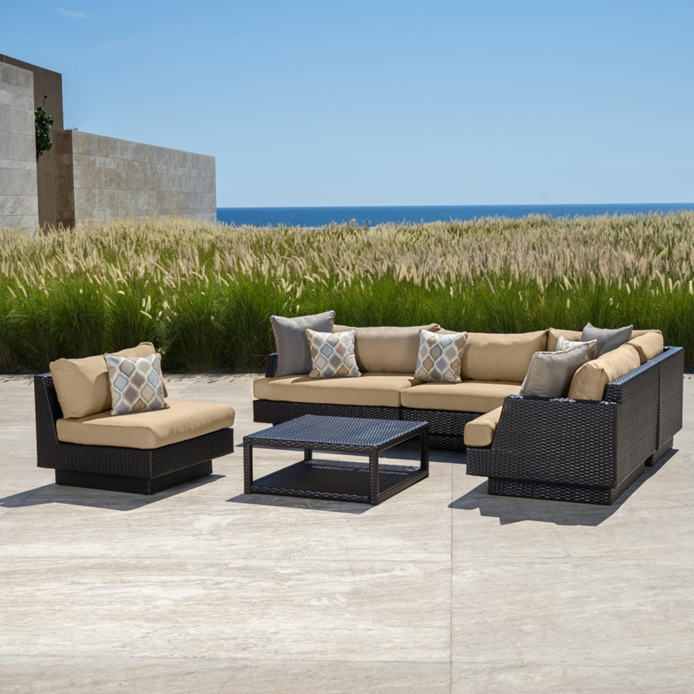 ... Portofino™ Comfort 6pc Sofa Sectional - Heather Beige ... - Portofino Comfort 6pc Sofa Sectional - Heather BeigeRST Brands