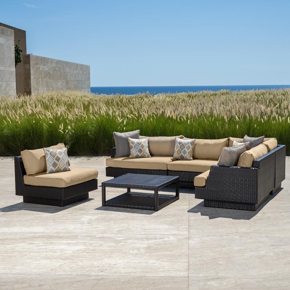 ... Portofino™ Comfort 6pc Sofa Sectional - Heather Beige ...