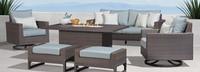 Milea™ 6 Piece Motion Fire Seating Set - Mist Blue
