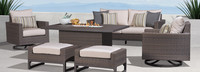 Milea™ 6 Piece Motion Fire Seating Set - Natural Beige