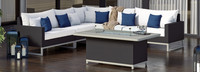Milo™ Espresso 6 Piece Fire Sectional - Bliss Ink