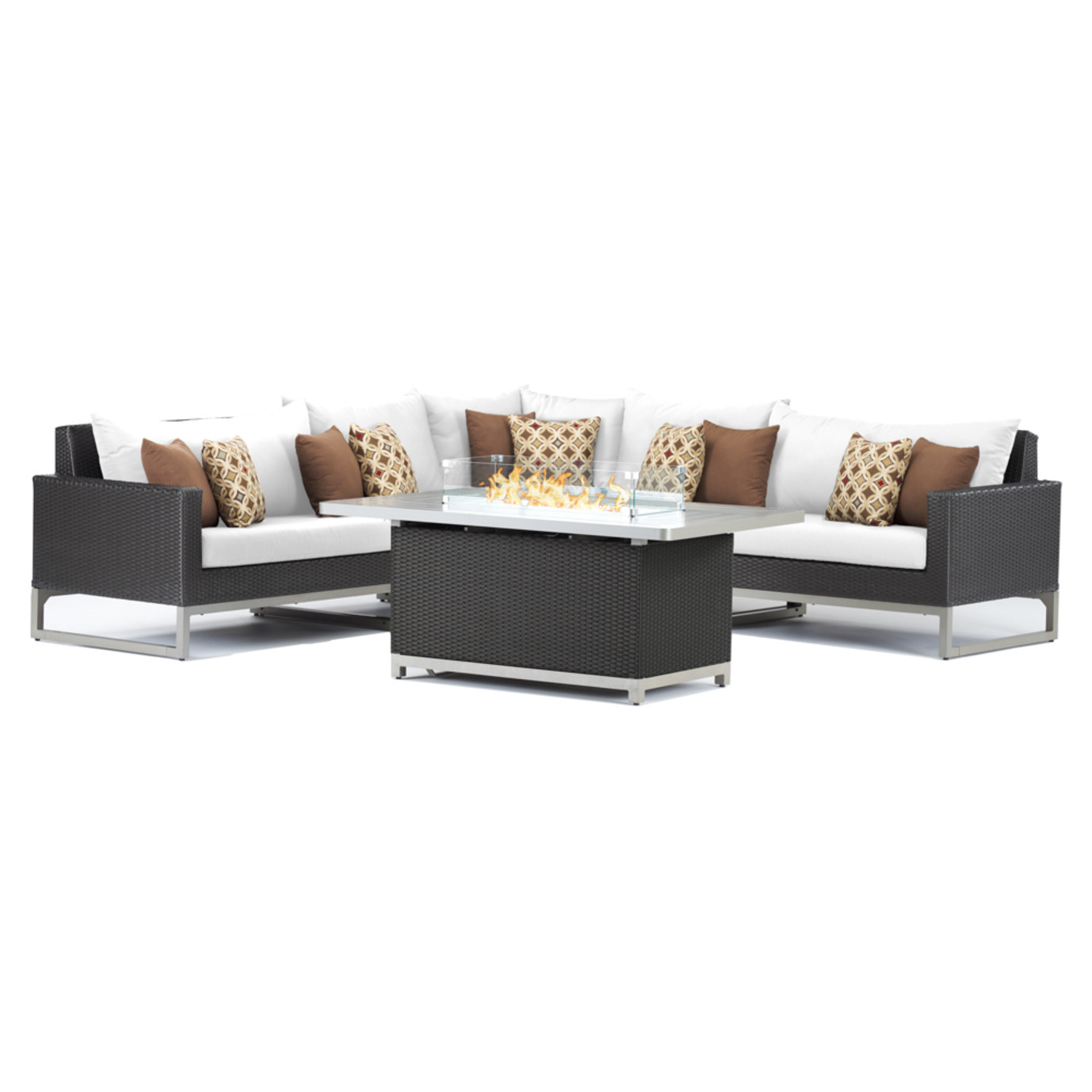 Milo Espresso 6 Piece Fire Sectional - Moroccan Cream