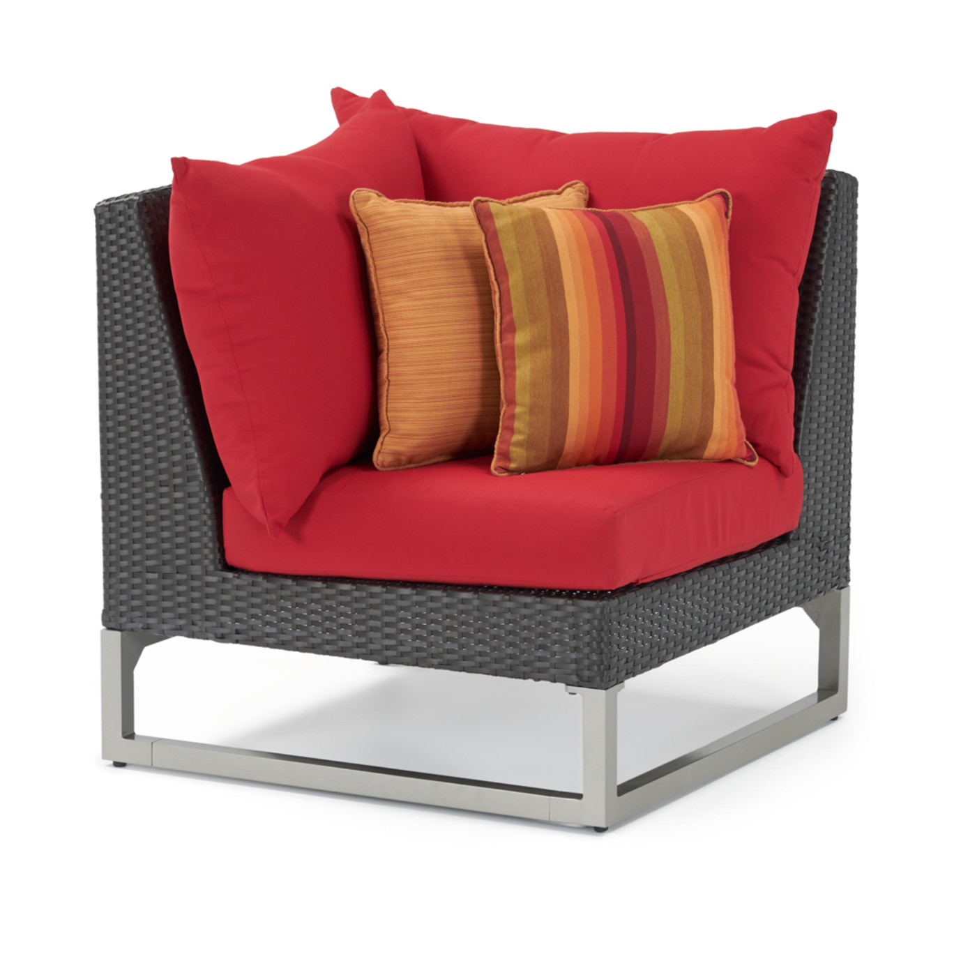 Milo Espresso 6 Piece Fire Sectional - Sunset Red