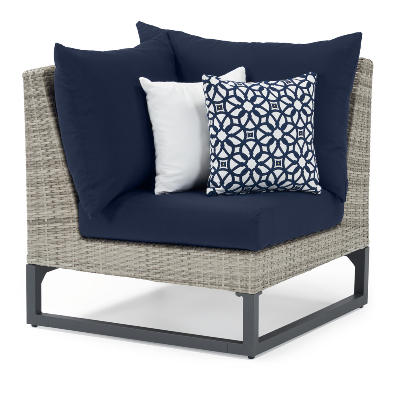 Milo Gray 6 Piece Fire Sectional - Navy Blue