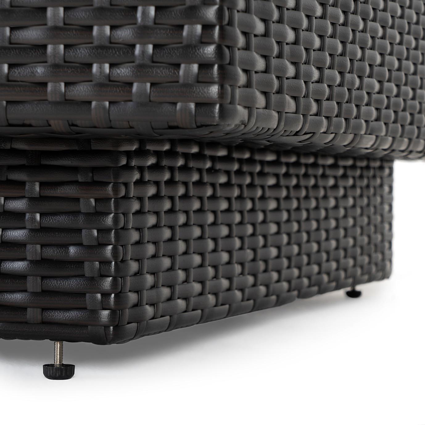 Portofino™ Comfort 6pc Sectional & Fire Table - Espresso Taupe